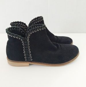 Zara Girl Black Suede Ankle Boots Size 7/37